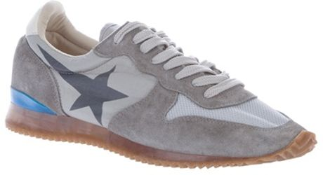 Golden Goose Deluxe Brand Panelled Trainer in Gray (grey) - Lyst