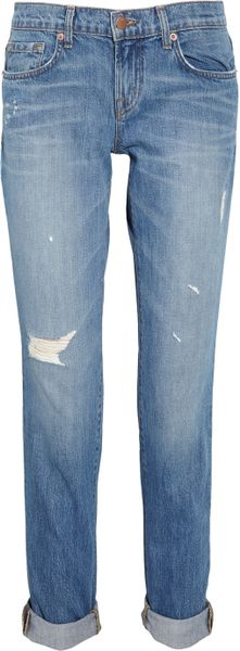 J Brand Aiden Distressed Boyfriendfit Jeans in Blue - Lyst