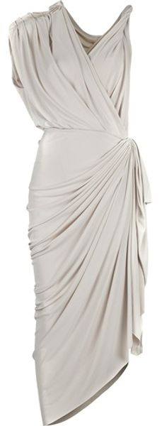 Lanvin Grecian Dress - Lyst