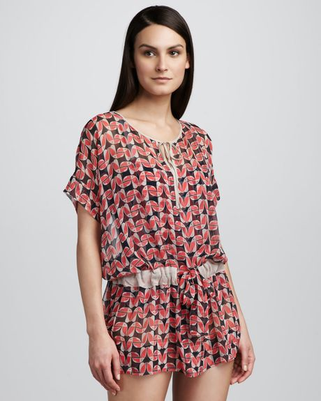 Marc By Marc Jacobs Toucan Do It Sheer Coverup in Red (normandy blue) - Lyst