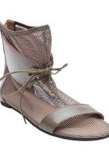 Mm6 By Maison Martin Margiela Mesh Lace Boot - Lyst