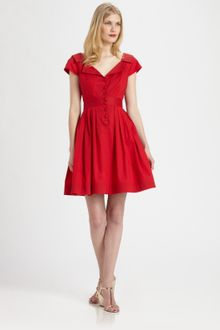 Shift Dress on Nanette Lepore Red Sunset Boulevard Shift Dress