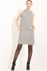 Oscar de la Renta Trapeze Silk Tweed Dress - Lyst