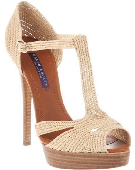 Ralph Lauren Stiletto Sandal in Beige (nude)