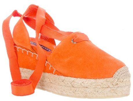 Ralph Lauren Uma Espadrille in Orange - Lyst