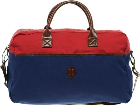 River Island  Canvas Holdall in Blue for Men (rednavy) - Lyst