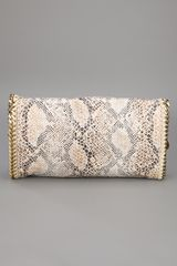 Stella Mccartney Falbo Eco Snake Bag in Beige (snake) - Lyst