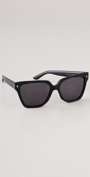 Yves Saint Laurent Oversized Square Sunglasses in Black - Lyst