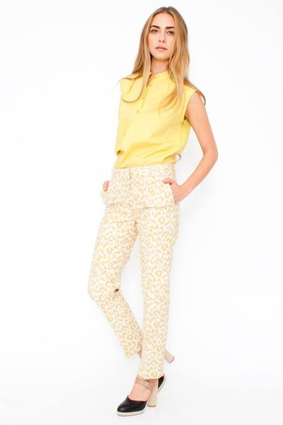 3.1 Phillip Lim Leopard Print Pencil Trousers in Multicolor (leopard) - Lyst