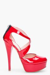 Alejandro Ingelmo Red Penny Pumps - Lyst