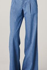 Alice + Olivia Denim Eric Pants in Blue (denim) - Lyst