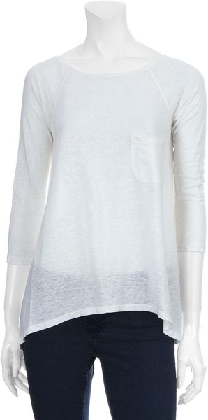 Alice + Olivia Oversized Raglan Top in White - Lyst