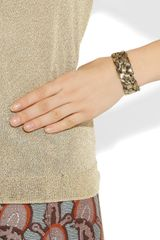 Aurelie Bidermann Braided 18karat Goldplated Cuff in Gold - Lyst