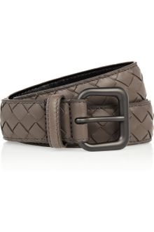 Bottega Veneta Intrecciato Leather Belt - Lyst