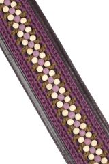 Burberry Prorsum Leathertrimmed Crocheted Waist Belt in Purple (ebony) - Lyst