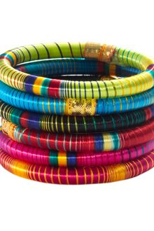 Cara Accessories  Striped Bangle - Lyst
