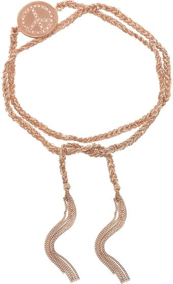 Carolina Bucci Lucky 18karat Rose Gold Diamond Bracelet - Lyst