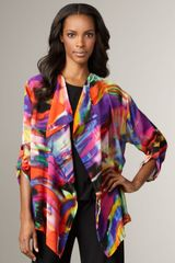 Caroline Rose Painterlyprint Jacket - Lyst