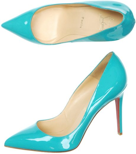 Christian Louboutin Pigalle 100mm Shoes in Blue (turquoise) - Lyst
