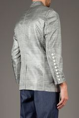 Comme Des Garçons Check Jacket in Gray for Men (black) - Lyst