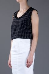 Dolce & Gabbana Polka Dot Top in Black - Lyst