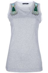 Dolce & Gabbana Embellished Top in Gray (grey) - Lyst