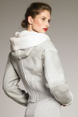 Donna Karan New York Shearling Jacket - Lyst