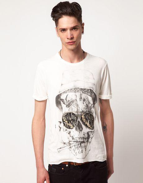 Elvis jesus elvis jesus loathing tshirt in white for men for Elvis jesus t shirt