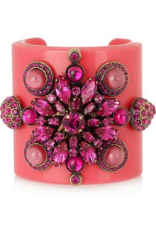 Emilio Pucci Plexiglass and Crystal Cuff - Lyst