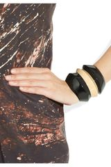 Etro Ridged Twotone Cuff in Black - Lyst