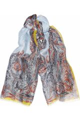 Etro Printed Silk and Linenblend Scarf - Lyst