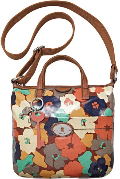 Fossil Vintage Keyper Coated Canvas Crossbody Bag in Multicolor (floral) - Lyst