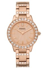 Fossil  Glitz Rose Gold Tone Stainless Steel Bracelet 34mm - Lyst