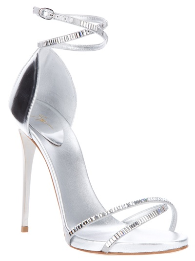48a70d108eb Silver High Heeled Open Toed Sandals With Diamant Straps ( 76) found on  Polyvore  . silver high heeled sandals. Gallery