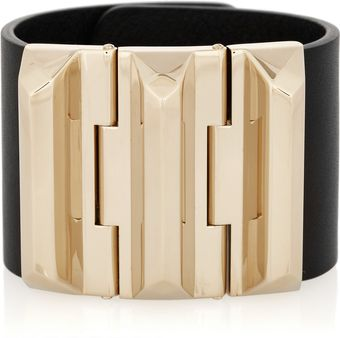 Gucci Goldplated Leather Cuff - Lyst