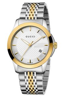 Gucci Mens Swiss Gtimeless Two Tone Stainless Steel Bracelet 38mm - Lyst
