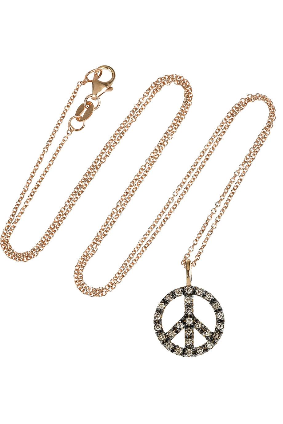 Ileana Makri 18-karat Rose Gold Diamond Necklace 0gJziKI