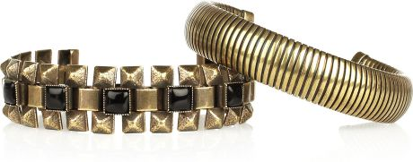 Isabel Marant Flass Amp Yvette Set Of Two Cuffs in Gold (bronze) - Lyst