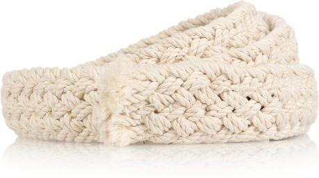 Isabel Marant Kitti Woven Cotton Belt in Beige (cream)