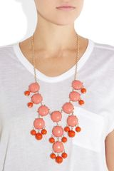 J.crew Bubble 18karat Goldplated Resin Necklace in Gold - Lyst