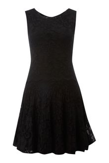 John Zack Tiered Lace Dress - Lyst