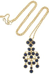 Kenneth Jay Lane 22karat Goldplated Cabochon Necklace - Lyst