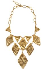 Kenneth Jay Lane 22karat Goldplated Oversized Necklace - Lyst