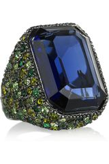 Kenneth Jay Lane Swarovski Crystal Cocktail Ring - Lyst