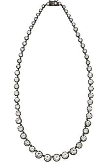 Kenneth Jay Lane Rhodiumplated Cubic Zirconia Necklace - Lyst