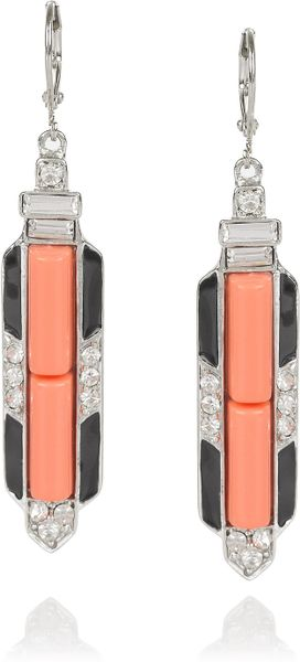 Kenneth Jay Lane Silverplated Crystal Earrings - Lyst