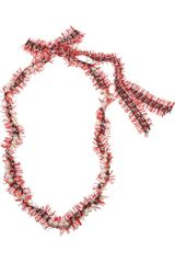 Lanvin Glass Pearl and Tweed Necklace - Lyst