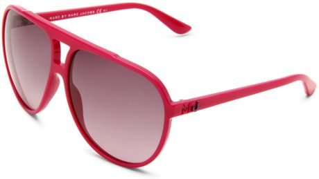 Marc By Marc Jacobs Mmj 288s Aviator Sunglasses in Pink (fuschia frame/grey gradient lens) - Lyst
