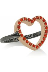 Marc By Marc Jacobs Pavé Crystal Heart Ring - Lyst