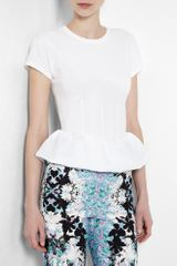 Marc By Marc Jacobs Neoprene Peplum Zip Back Couture Tshirt